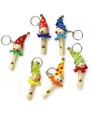 Porte-clés pipeau «Clowns»