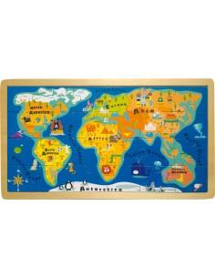 """Puzzle Cadre """"Carte du monde"""""""