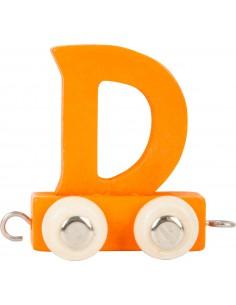 Train de lettres en couleur D