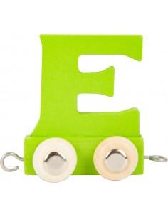 Train de lettres en couleur E