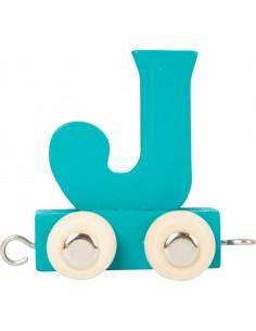 Train de lettres en couleur J
